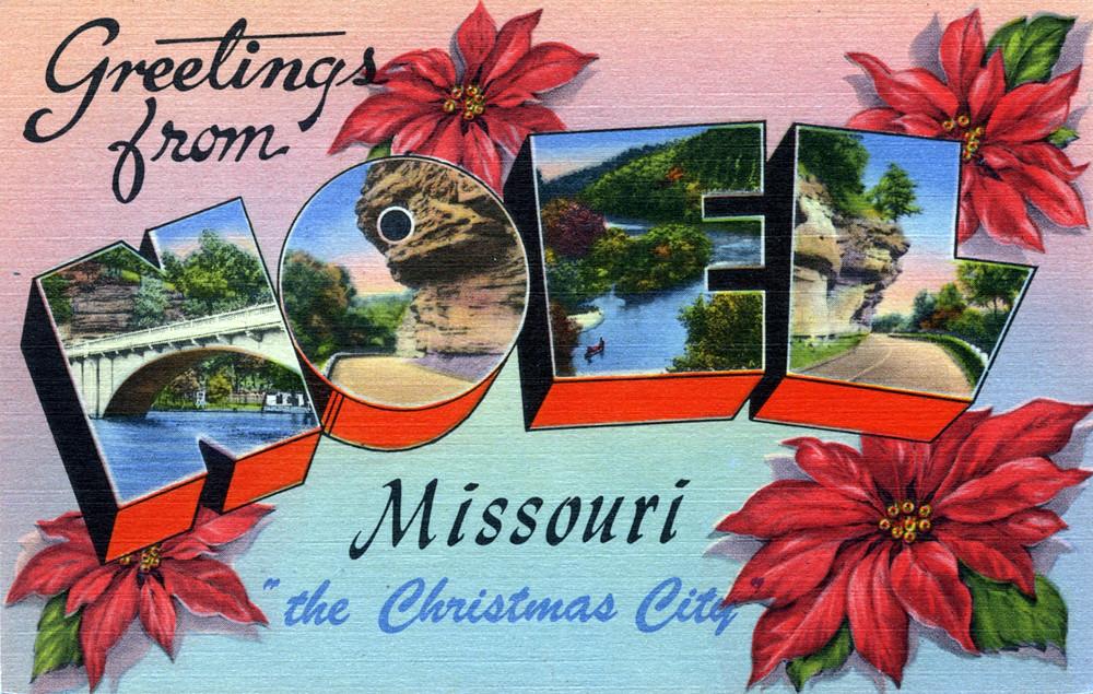 Postcard Noel. Missouri